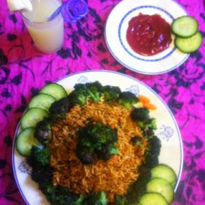Vermicelli with Chicken Mince