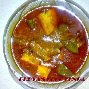 Maharastrian Brinjal & Potato Thick Curry