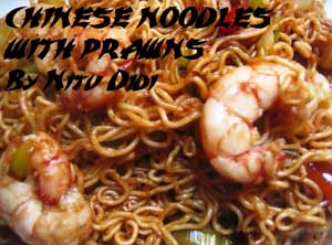 Chinese Noodles with Prawns (Rameen)