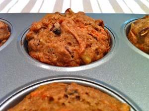 Carrot Cake Muffins–Gluten Free