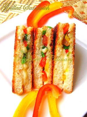 Colorful Grilled Sandwiches