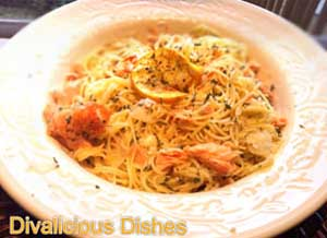 Garlic Samon & Angel Hair Pasta