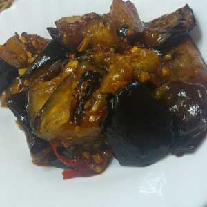 Sweet and Chilli Eggplant