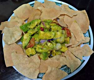 Avocado Salad with Papad