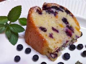 Blueberry Peach Pound Cake