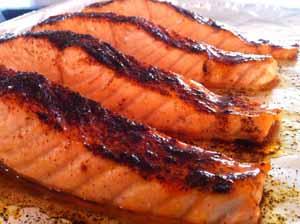 Chili-Maple Glazed Salmon