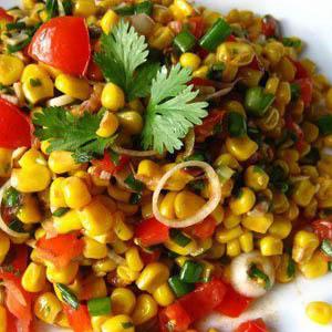 Corn Bhel (Tangy Corn Salad)