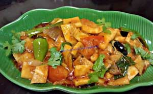 Tender Coconut in Spicy Gravy