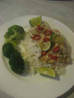 Curry Coconut Cod Parcel
