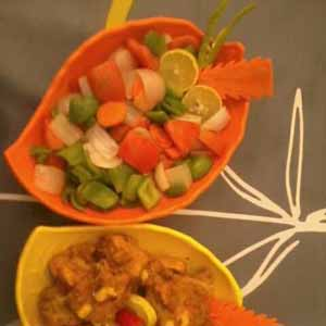 Yellow Chicken with Grilled Salad