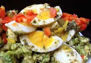 Avocado Egg Pesto Salad