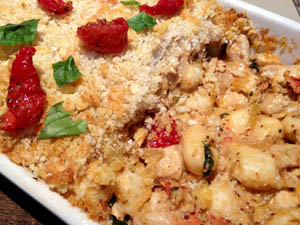 Creamy Chicken and Gnocchi Bake