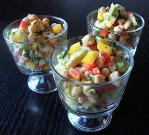 Garbanzo Avocado Pepper Salad