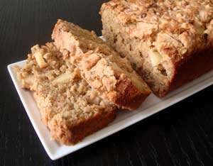 Gluten and Sugar Free Apple Oatmeal Loaf