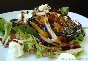 Grilled Balsamic Pineapple Goat Cheese Salad