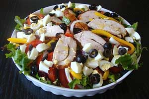 Turkey and Mixed Green Salad
