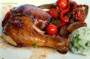 Balsamic Chicken with Roast Vegetables