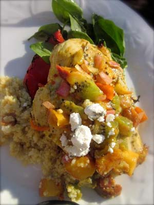 Lime Chicken with Tropical Salsa
