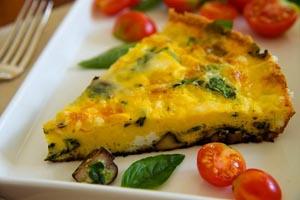 Spinach, Mushroom and Fontina Frittata