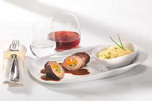 Beef Roulades with Potato-Celeriac Puree