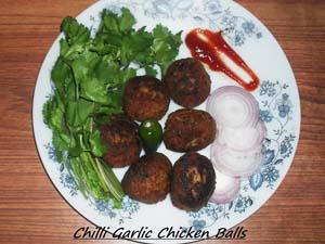 Chilli Garlic Chicken Balls