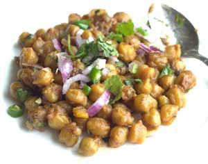 Dry Chole masala (Chickpeas masala)