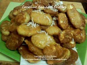 Coconut Banana Fritters