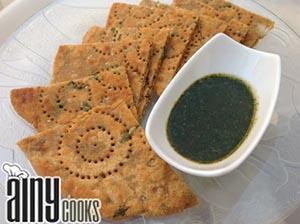 Gram Flour Parathas (Flat Bread)